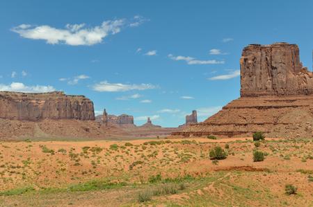 stratified: Panorama of Monument Valley, Arizona, Utah
