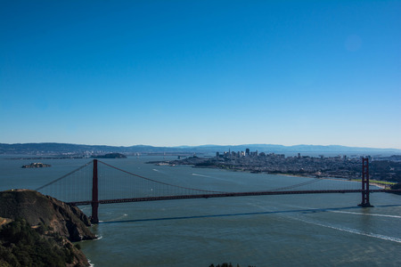 marin: San Francisco and the Golden Gate Bridge from Marin Headlands