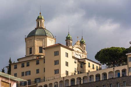 sanremo: Sanctuary of Madonna della Costa in Sanremo, Italy Stock Photo