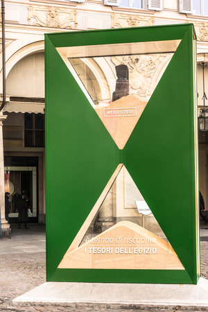 portage: The big Hourglass in Turin, Italy