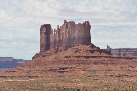 iron oxide: Butte in the Monument Valley Stock Photo