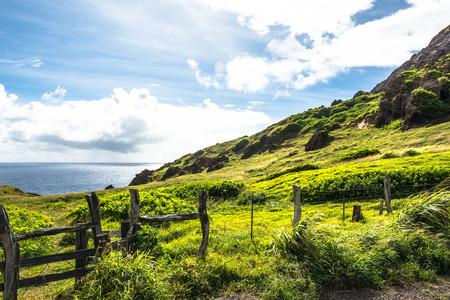 maui: View of Kahakuloa coast, Maui, Hawaii Stock Photo