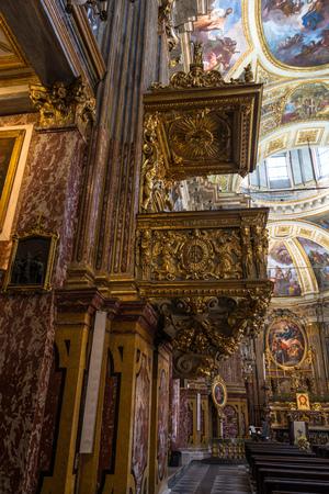 martiri: Pulpit of Santissimi Solutore Avventore Ottaviano Church in Turin