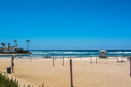 camino: The beach along the Camino del Mar, California