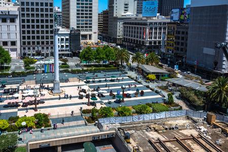dewey: Work in progress in Union Square in San Francisco