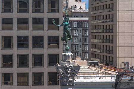 dewey: The Victory Statue atop the Dewey Memorial in Union Square, San Francisco Editorial