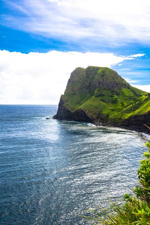 maui: Kahakuloa Head, Maui, Hawaii Stock Photo