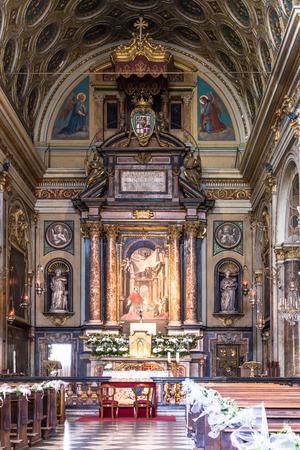 tabernacle: The interior of San Carlo Church in Turin