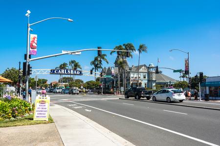 street lamp: The main Street in Carlsbad, California