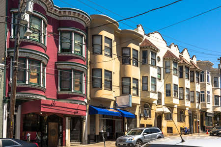 bow window: Houses in San Francisco