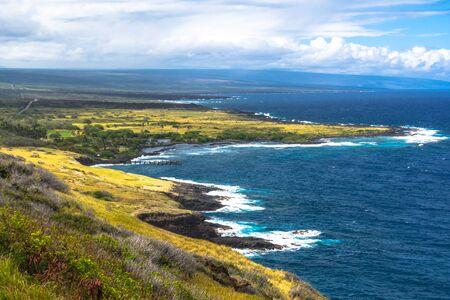 big island: Honuapo Bay coast in Big Island, Hawaii Stock Photo