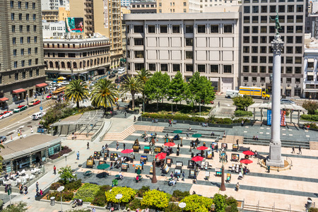 dewey: Aerial view of Union Square in San Francisco