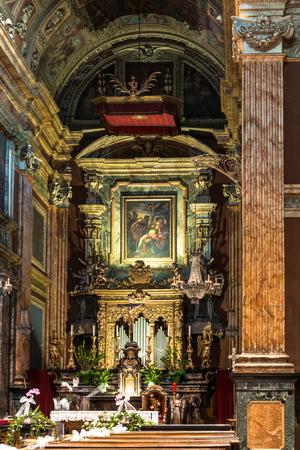 tabernacle: Turin, Italy  - September 26, 2015 : The altar of the church of Santa Cristina.
