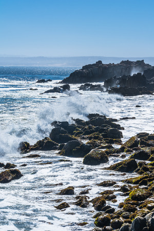 monterey: Waves crashing on the rocks, Monterey, California