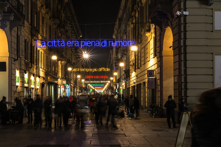 garibaldi: Light and Art in via Garibaldi in Turin, Italy