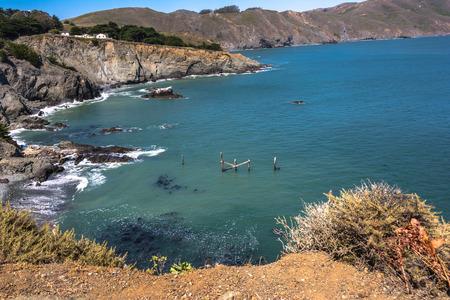 ocea: The coast along Point Bonita, California Stock Photo