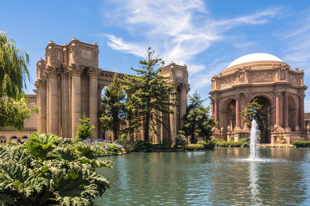 roman pillar: The Palace of Fine Arts, San Francisco