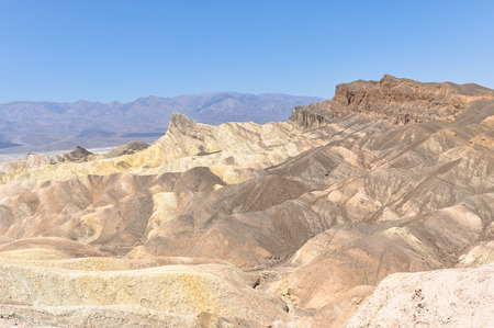 sediments: View of the Zabriskie Point, California Stock Photo