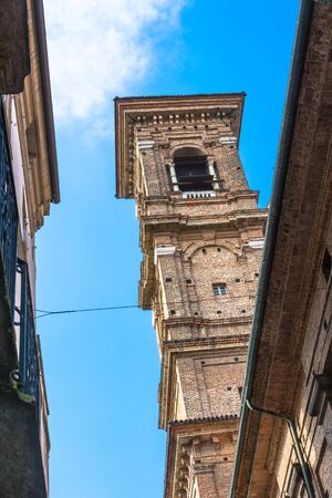 martiri: The Baroque Bell Tower in Turin, Italy Editorial