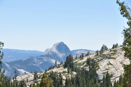 half dome: Yosemites Half Dome, California Stock Photo
