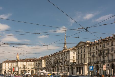 vittorio: Piazza Vittorio and the Mole Antonelliana in Turin, Italy Editorial