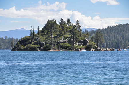 fannette: Fannette Island in Tahoe Lake, California