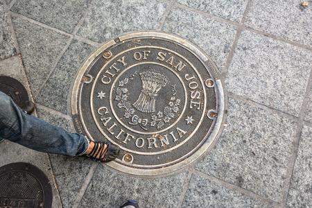 san jose: San Jose Manhole Cover, California