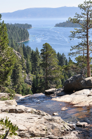 fannette: Tahoe Lake, California Stock Photo