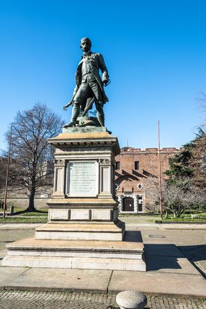 pietro: Monument to Pietro Micca in Turin, Italy Editorial