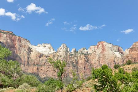 sedimentation: The Zion National Park, Utah