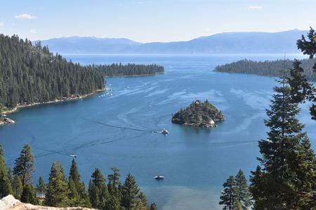 tahoe: Emerald Bay, Lake Tahoe, California Stock Photo