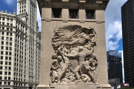 magnificent mile: Bas-relief sculpture in Chicago Editorial