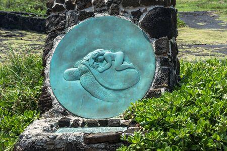 big island: Kauila and the sea turtles, Big Island, Hawaii Stock Photo