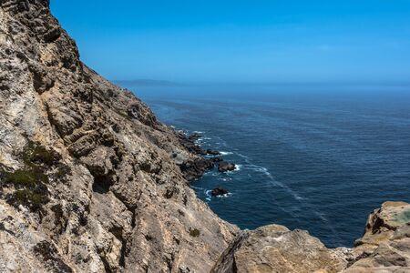 rocky point: The rocky coast along Point Reyes Coast, California