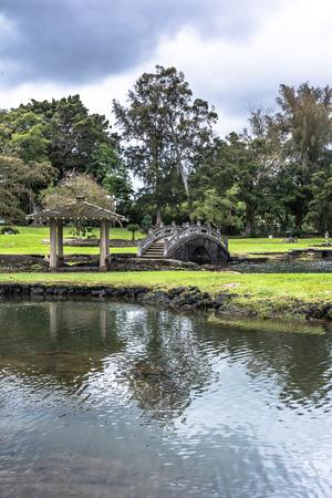 big island: Hilo garden, Big Island, Hawaii Stock Photo