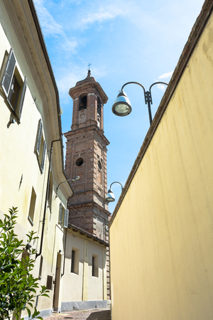 st  joseph: The Bell Tower of the St. Joseph Church, Alba Stock Photo