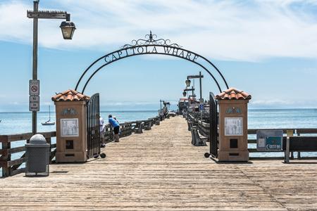 wharf: Capitola Wharf at Capitola Beach, California Stock Photo