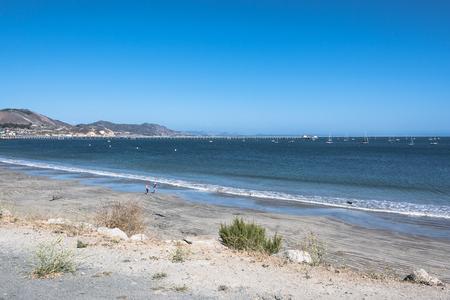 Sand Beach at Avila Beach, California Stock Photo