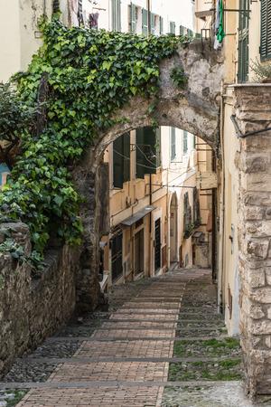 sanremo: Alley in San Remo, Italy