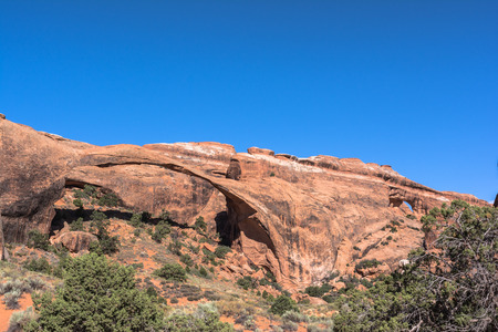 Landscape Arch in Arches National Park, Utah Stock Photo