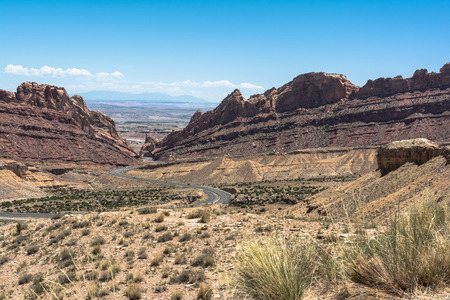 mesas: Landscape from Interstate 70, Utah Stock Photo