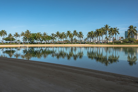 Waikiki Lagoon, Oahu, Hawaii