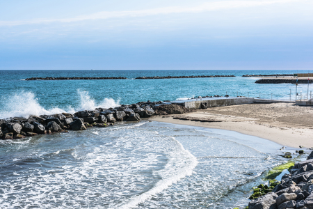 The coast of San Remo, Italy