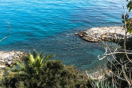 The coast of Sanremo, Italy Stock Photo