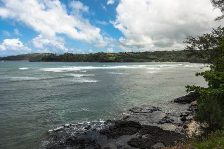 promontory: Kalihiwai coast, Kauai, Hawaii