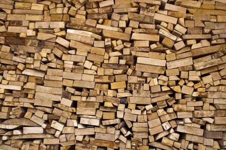 sorted: sorted firewood ready to burn in the fireplace Stock Photo