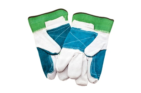 pair working gloves isolated on white background photo