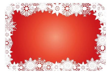 Christmas card with the white snowflakes Stock Vector - 16815903