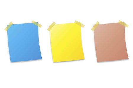 post it note: tre post it note su sfondo bianco illustrazione vettoriale