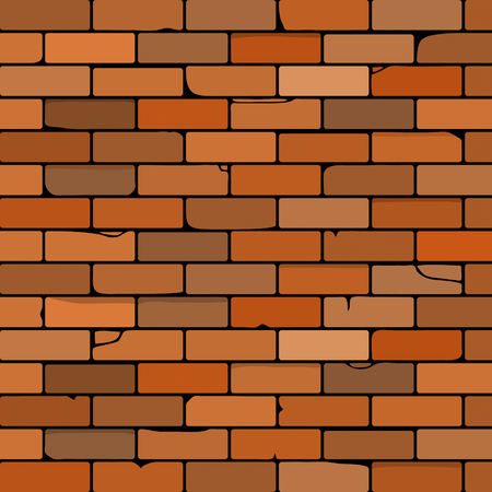 cracked wall: brick wall vector illustration made as background